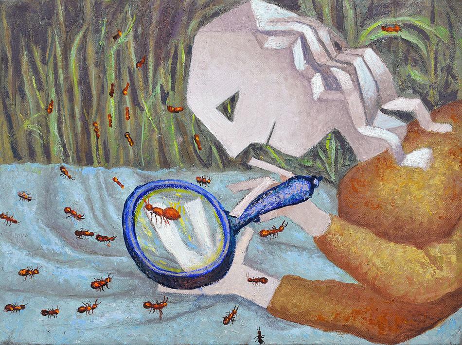 2014---le-formiche-rosse-olio-su-tela-30x-40